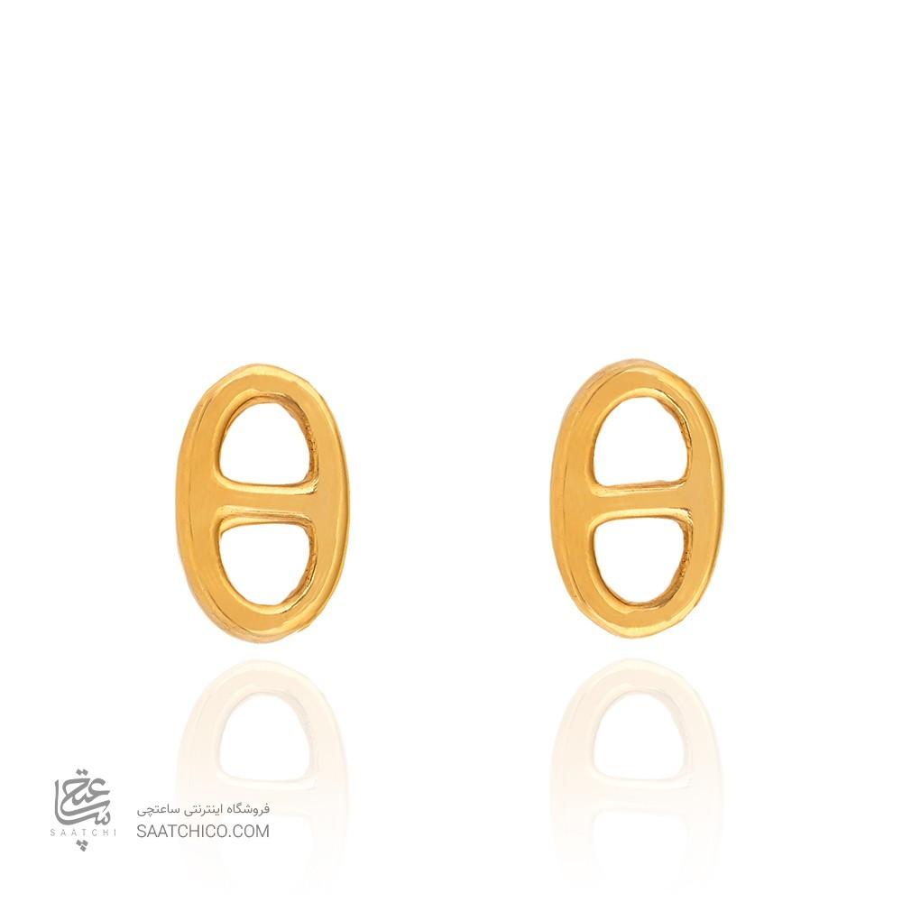 گوشواره طلا زنانه طرح هرمس کد CE392