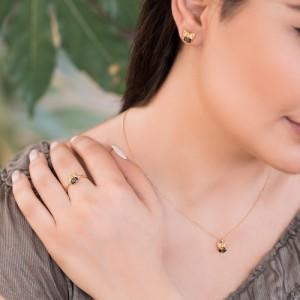گوشواره طلا زنانه طرح جغد کد CE391