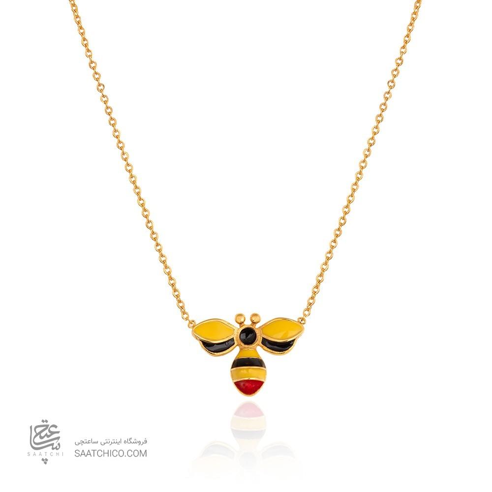 گردنبند طلا کودک طرح زنبور کد kn721