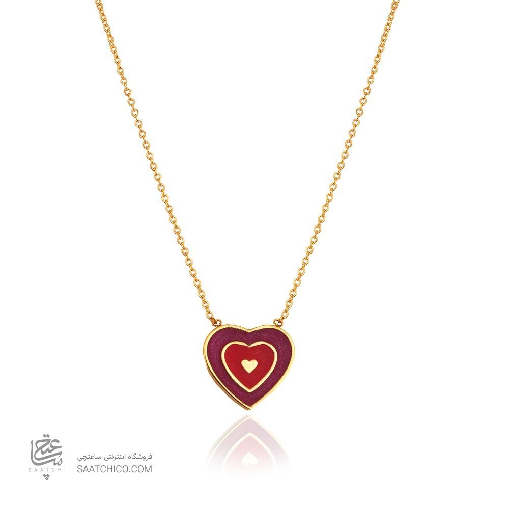 گردنبند طلا کودک طرح قلب کد kn723