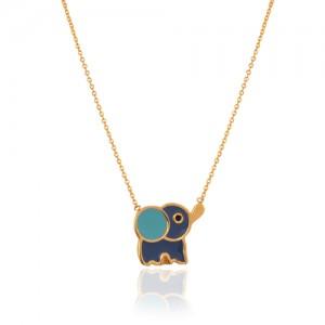 گردنبند طلا کودک طرح فیل کد kn726
