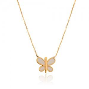 گردنبند طلا کودک طرح پروانه کد kn727