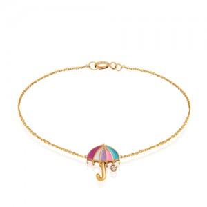 دستبند طلا کودک طرح چتر کد KB375