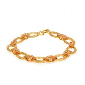 دستبند طلا طرح فیوژن کد CB411