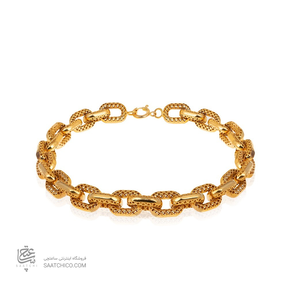 دستبند طلا طرح فیوژن کد CB412