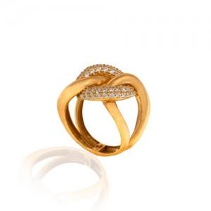 انگشتر طلا با نگین کد CR343