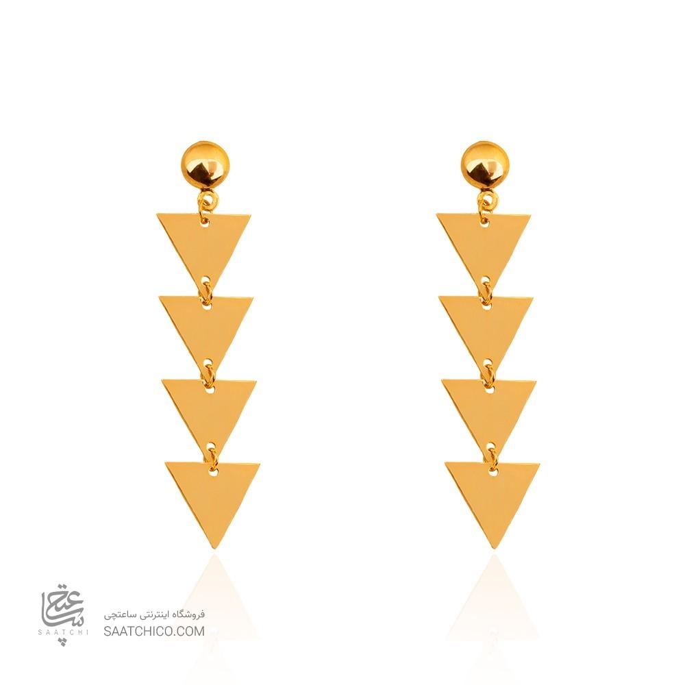 گوشواره طلا زنانه طرح مثلث کد LE636