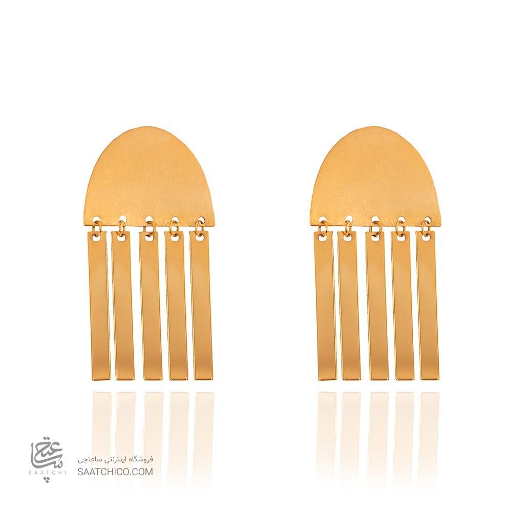 گوشواره طلا زنانه طرح هندسی کد LE638