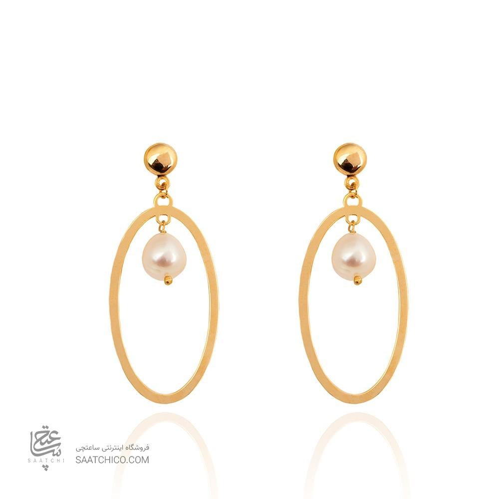 گوشواره طلا زنانه با مروارید کد XE126