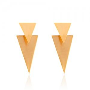 گوشواره طلا زنانه طرح هندسی کد LE637