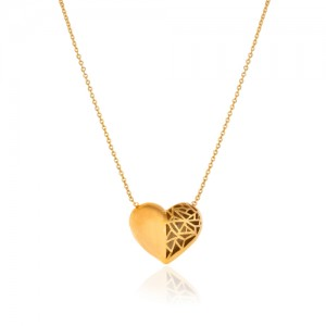 گردنبند طلا زنانه طرح قلب کد CN348