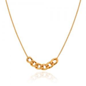 گردنبند طلا زنانه طرح کارتیه کد CN440