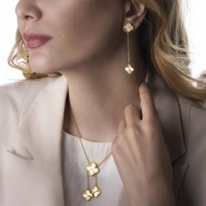 گردنبند طلا زنانه طرح ونکلیف کد CN335