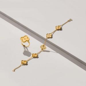 دستبند طلا  طرح ونکلیف کد CB417