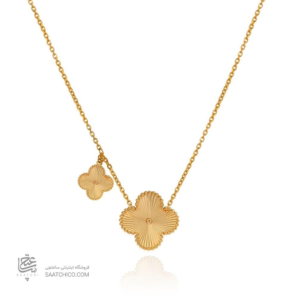 گردنبند طلا زنانه طرح ونکلیف کد CN302