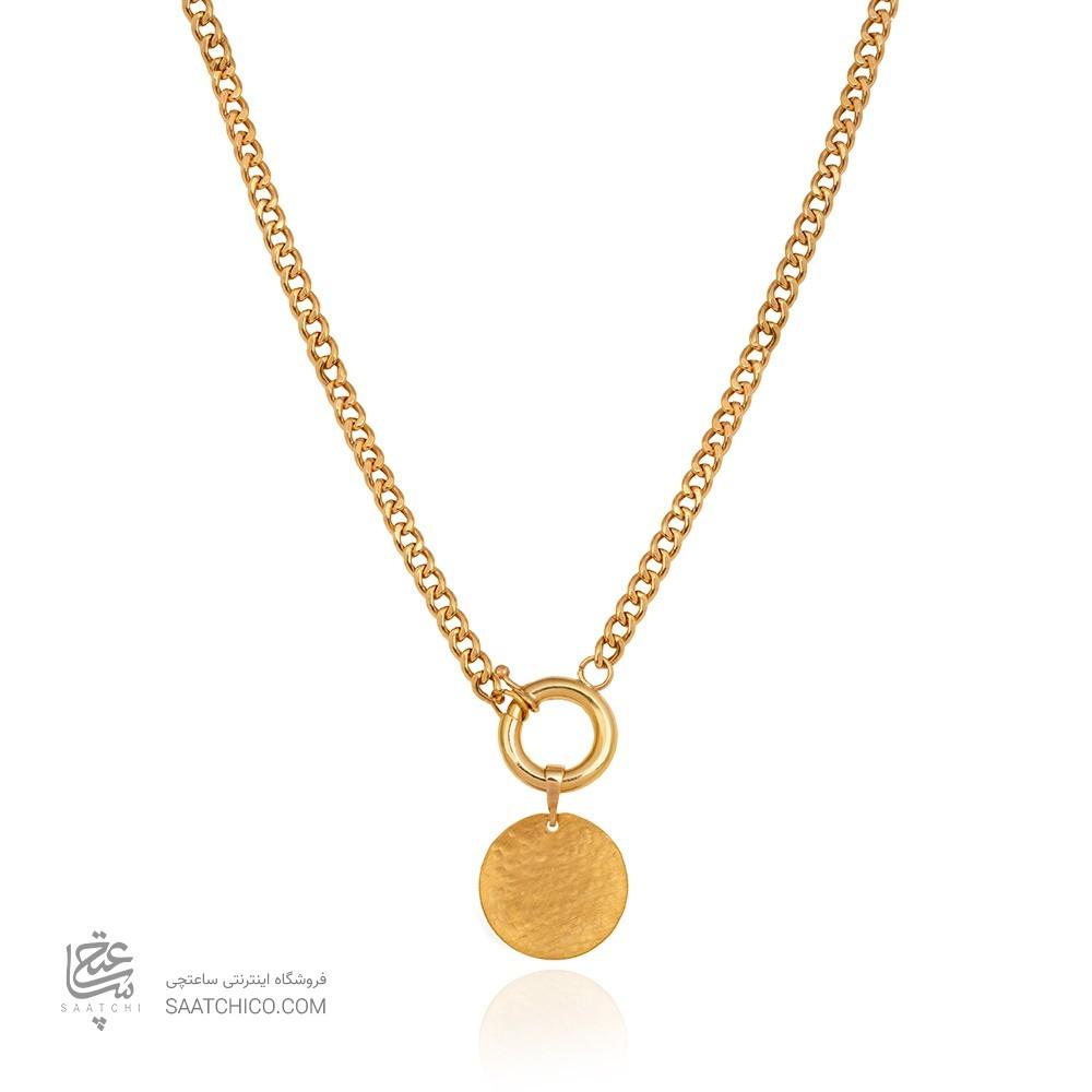 گردنبند طلا با زنجیر کارتیه و سکه چکشی کد CN303