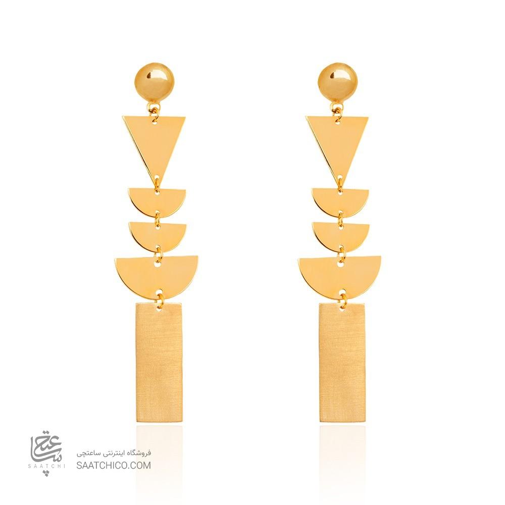 گوشواره بلند طلا کد le617