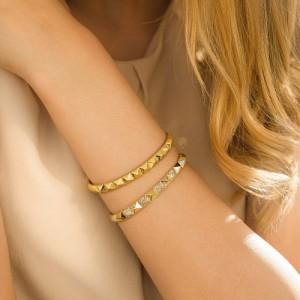 دستبند النگویی هرمی کد cb419