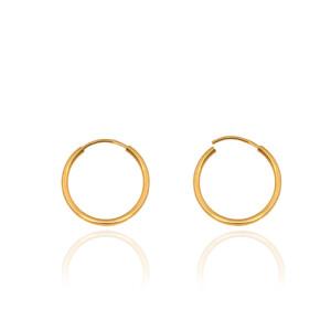 گوشواره حلقه ای طلا در پنج سایز کد CE395