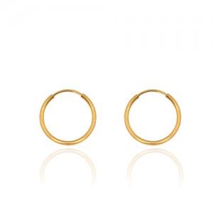 گوشواره حلقه ای طلا در چهار سایز کد ce395