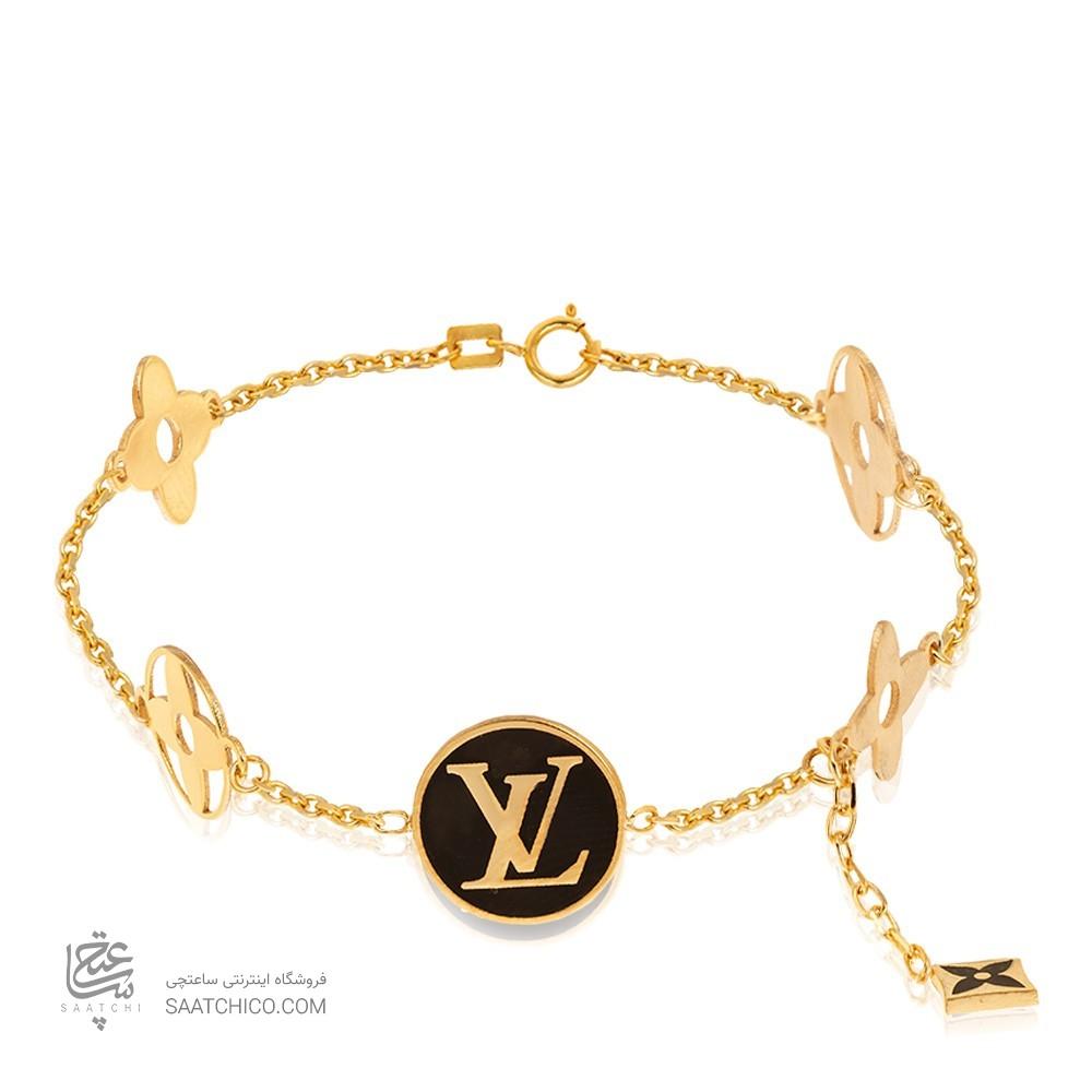 دستبند طلا طرح لویی ویتون کد cb421