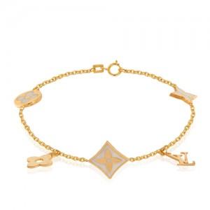 دستبند طلا طرح لویی ویتون کد cb422
