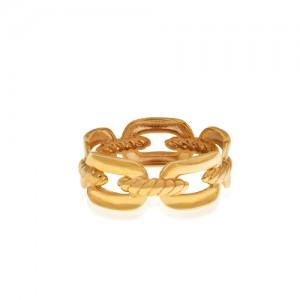 انگشتر طلا طرح زنجیر کد CR489