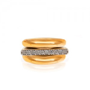 انگشتر طلا زنانه کد CR347