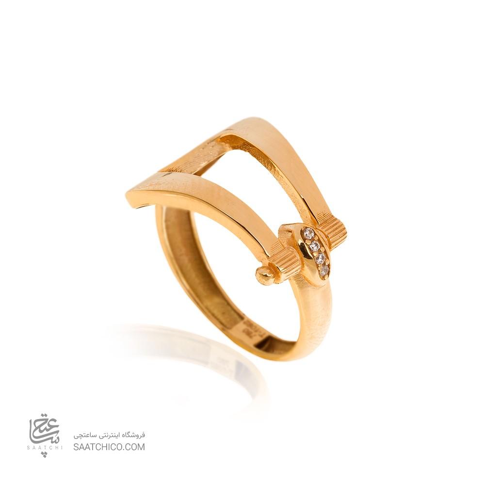 انگشتر طلا زنانه طرح فرد کد CR491