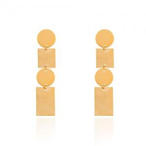 گوشواره طلا زنانه طرح هندسی کد LE665