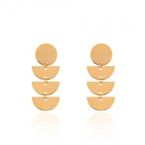 گوشواره طلا زنانه طرح هندسی کد LE655
