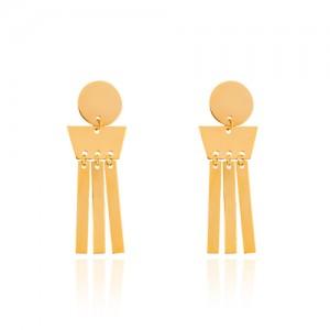 گوشواره طلا زنانه طرح هندسی کد LE667