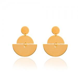 گوشواره طلا زنانه طرح هندسی کد LE645