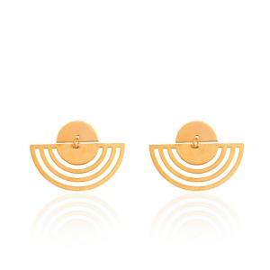 گوشواره طلا زنانه طرح هندسی کد LE663