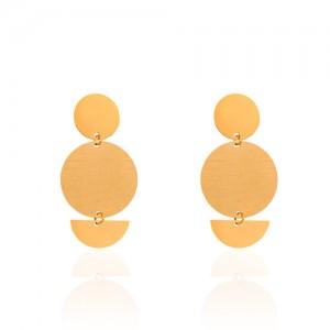 گوشواره طلا زنانه طرح هندسی کد LE668