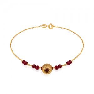 دستبند طلا زنانه با اویز انار کالکشن یلدا کد XB703