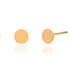 گوشواره میخی طلا طرح دایره کد LE669