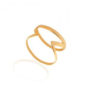 انگشتر طلا طرح هندسی کد CR495