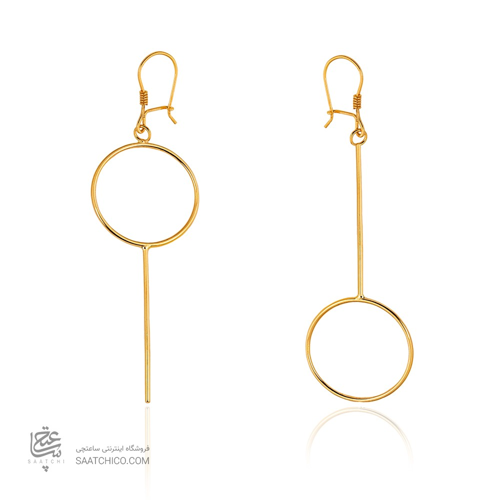 گوشواره طلا طرح هندسی کد CE398