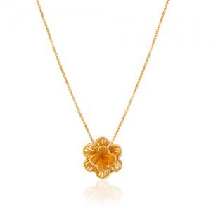 گردنبند طلا طرح گل فیوژن کد CN448