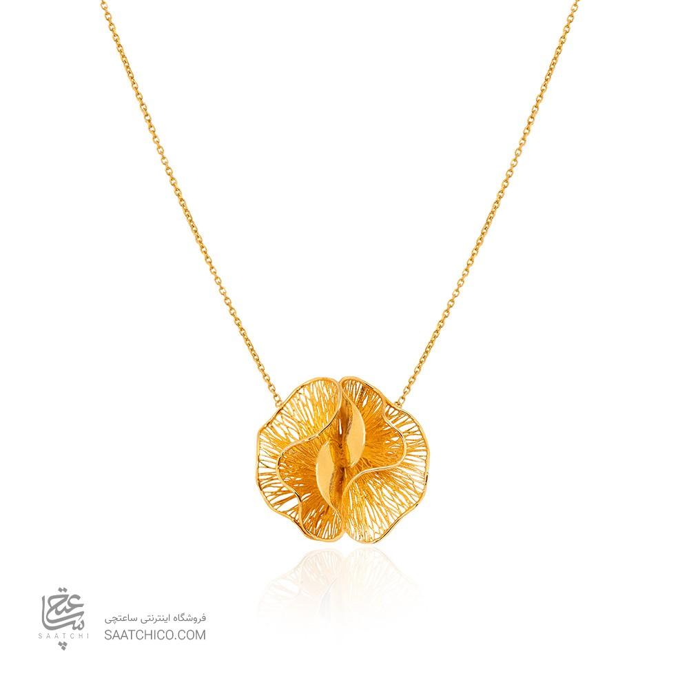 گردنبند طلا طرح گل فیوژن کد CN447