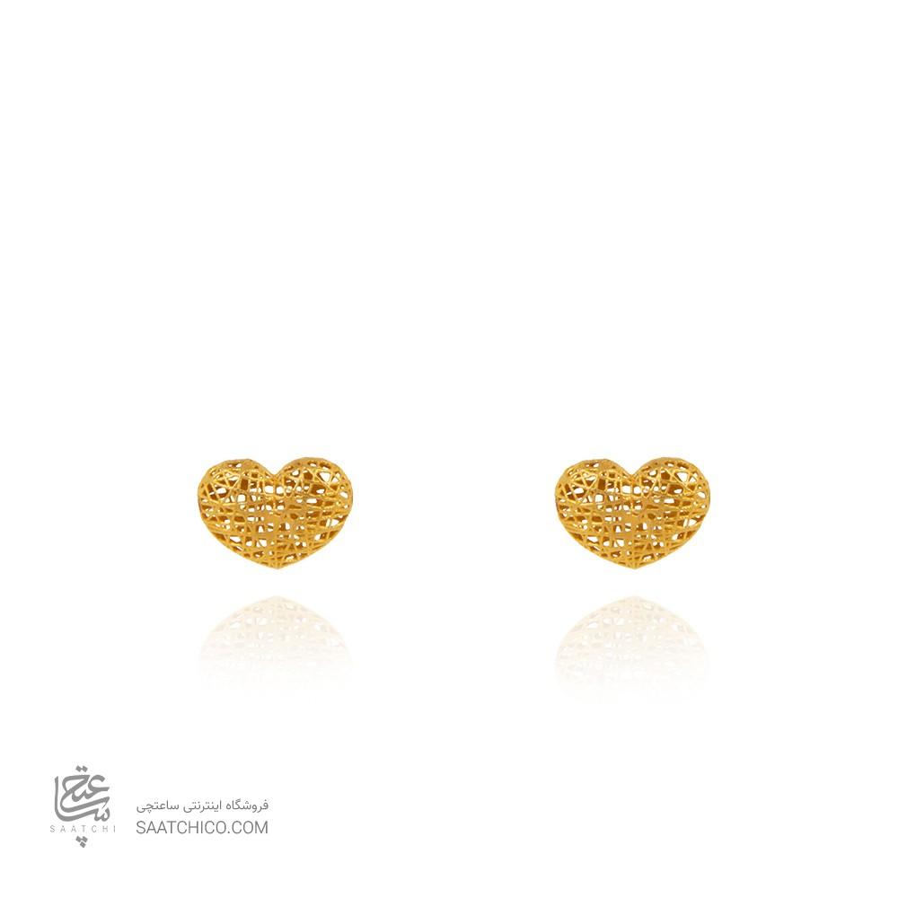 گوشواره طلا طرح فیوژن قلب کد CE403