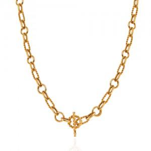 گردنبند زنجیری طلا با قفل تی کد CN449