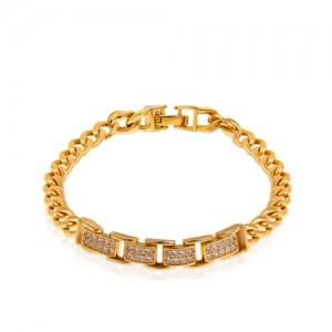 دستبند طلا طرح رولکس با زنجیر کارتیه کد CB429
