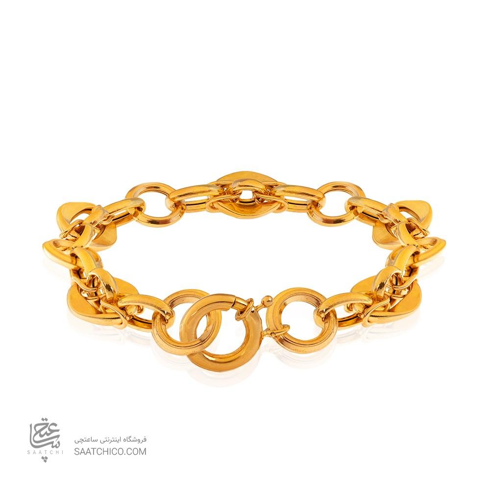 دستبند طلا زنجیری با قفل ملوانی کد CB430
