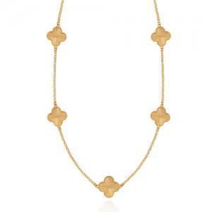 گردنبند طلا رولباسی طرح ونکلیف کد CN637