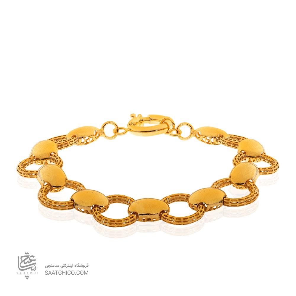 دستبند طلا زنانه طرح فیوژن کد CB431