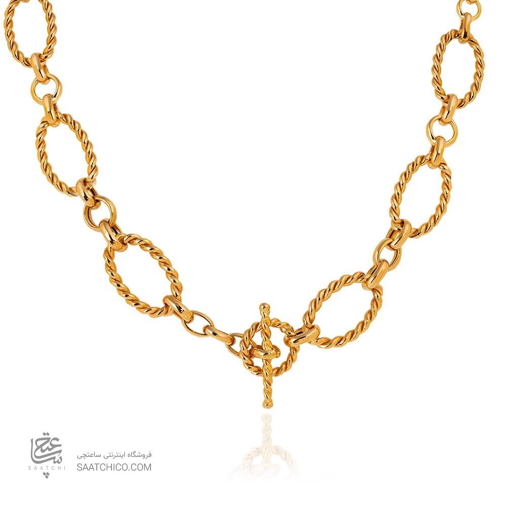 گردنبند طلا زنانه طرح دیوید یورمن کد CN452