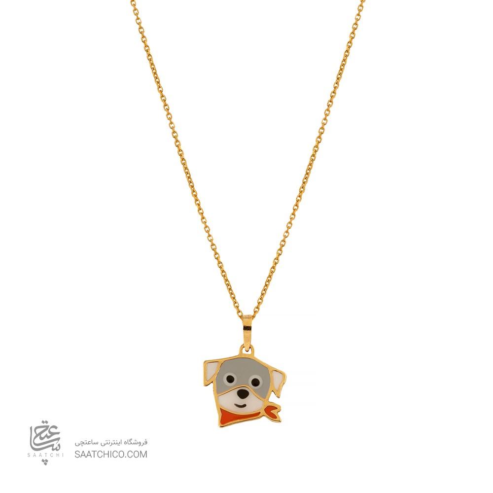 آویز طلا کودک طرح سگ کارتونی کد KP621