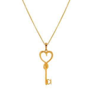 آویز طلا طرح کلید قلب کد CP340
